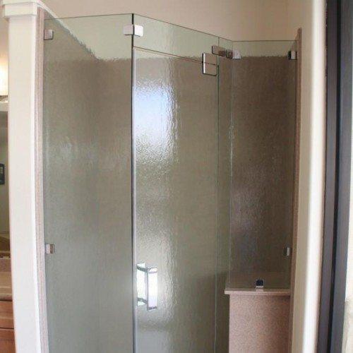 Frameless Custom Corner Shower Enclosure | Shower Gallery | Anchor-Ventana Glass