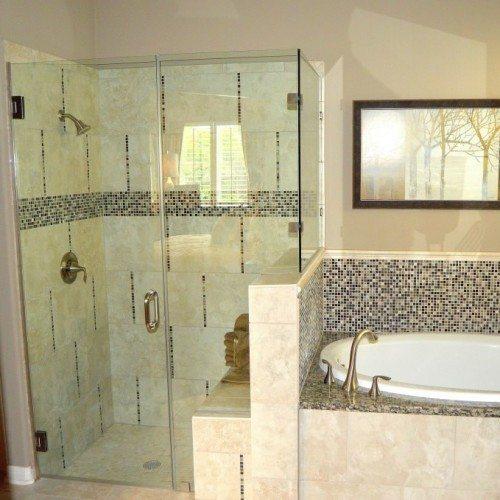 Frameless Corner Shower Enclosure | Shower Gallery | Anchor-Ventana Glass