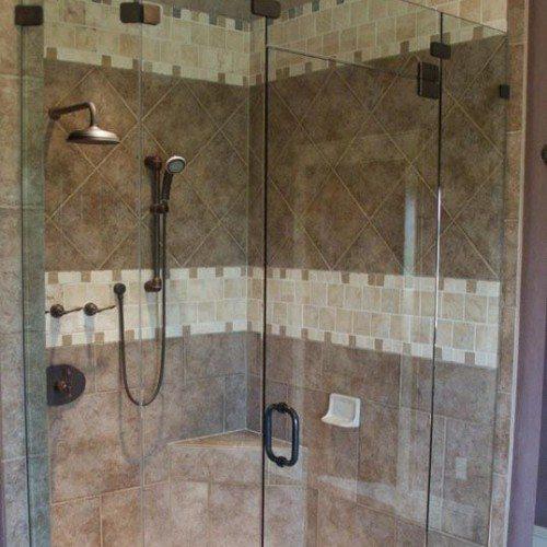 Frameless Shower - Bathroom - Traditional | Shower Gallery | Anchor-Ventana Glass