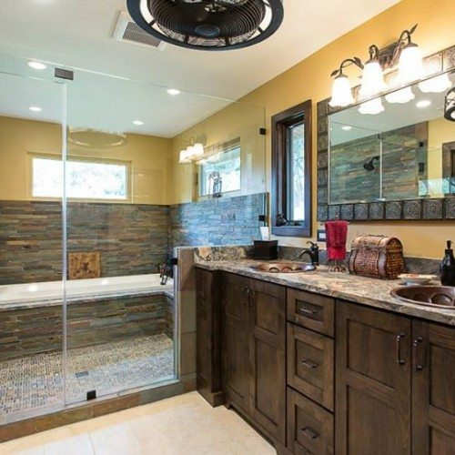 Let the craftsmanship of this shower/tub combo take center stage with a frameless glass enclosure   Shower Gallery   Anchor-Ventana Glass