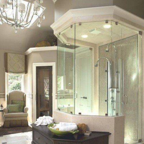 A unique shower surround is a perfect way to show off your style   Shower Gallery   Anchor-Ventana Glass
