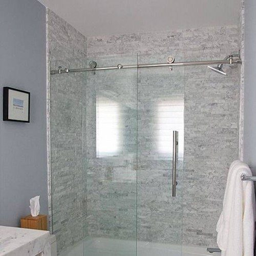 Pipeline Sliding Tub Enclosure in Bathroom | Shower Gallery | Anchor-Ventana Glass