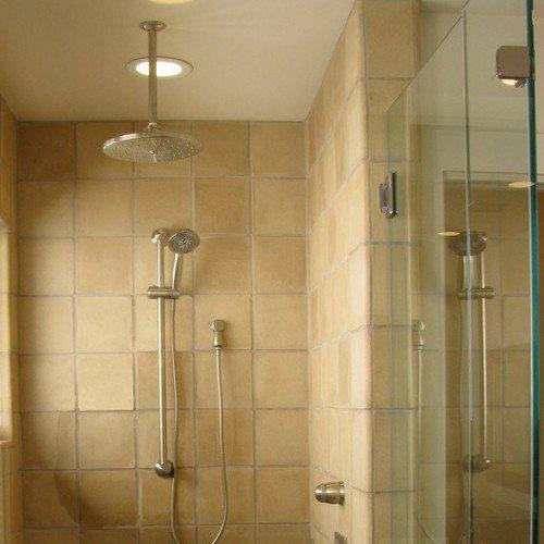 Frameless Corner Shower Enclosure in Bathroom | Shower Gallery | Anchor-Ventana Glass