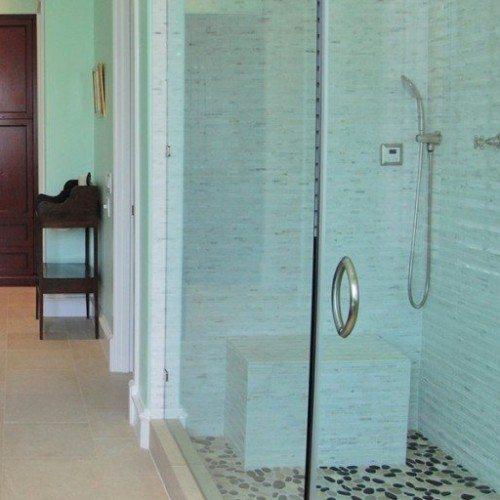 Frameless Shower - Glass Sink - Frameless Mirror - Glass Countertop | Shower Gallery | Anchor-Ventana Glass