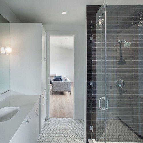Frameless Inline Glass Shower | Shower Gallery | Anchor-Ventana Glass