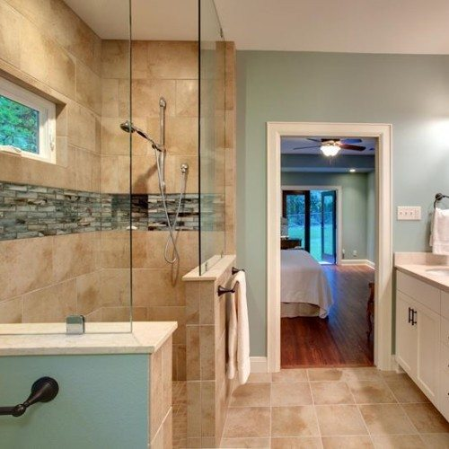 Frameless Fixed Panels Set With Clamps in Bathroom   Shower Gallery   Anchor-Ventana Glass