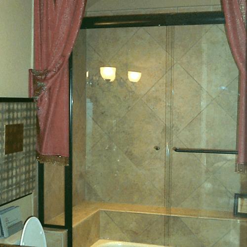 Frameless Glass Tub and Shower Door - Traditional Bathroom   Shower Gallery   Anchor-Ventana Glass