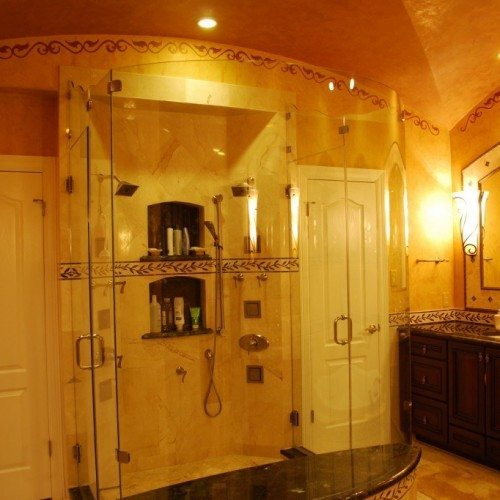 Frameless Shower - Bathroom - Rustic | Shower Gallery | Anchor-Ventana Glass