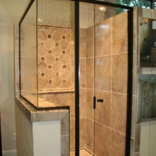 Modern Shower - Traditional Framed Shower Door | Shower Gallery | Anchor-Ventana Glass