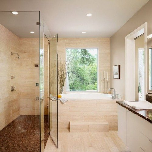 Transform your cramped bathroom to a more convenient, elegant and easy to clean space | Shower Gallery | Anchor-Ventana Glass