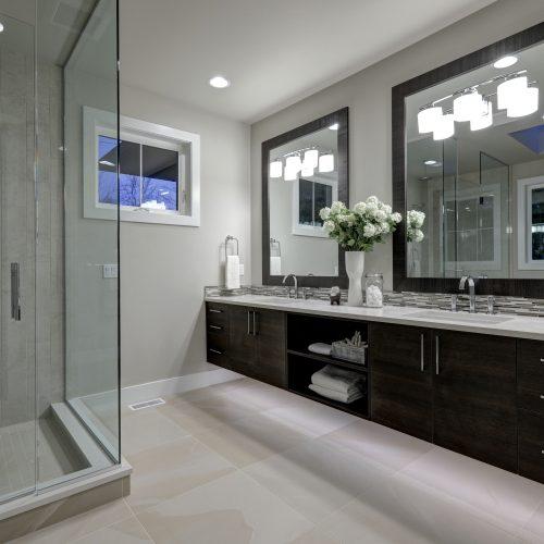 shower stall glass