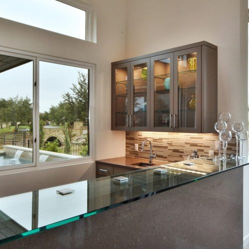 kitchen glass bar