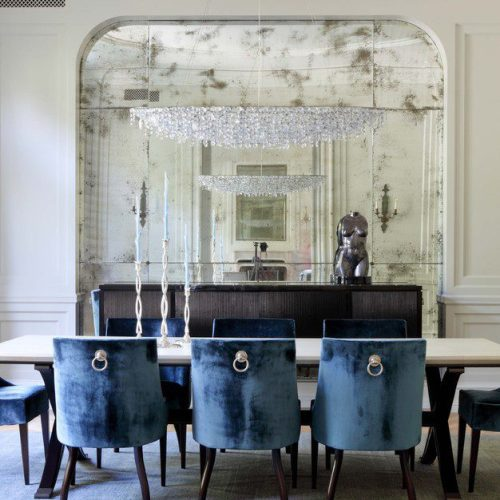 antique mirrors in living room